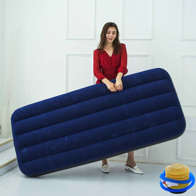 72 Inch Single Inflatable Flocked Air Bed Mattress