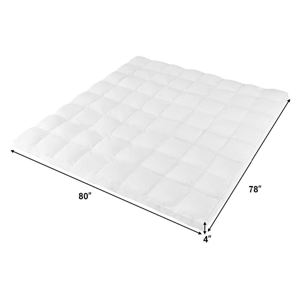 """Giantex 4"""" King Size Microfiber Mattress Topper"""
