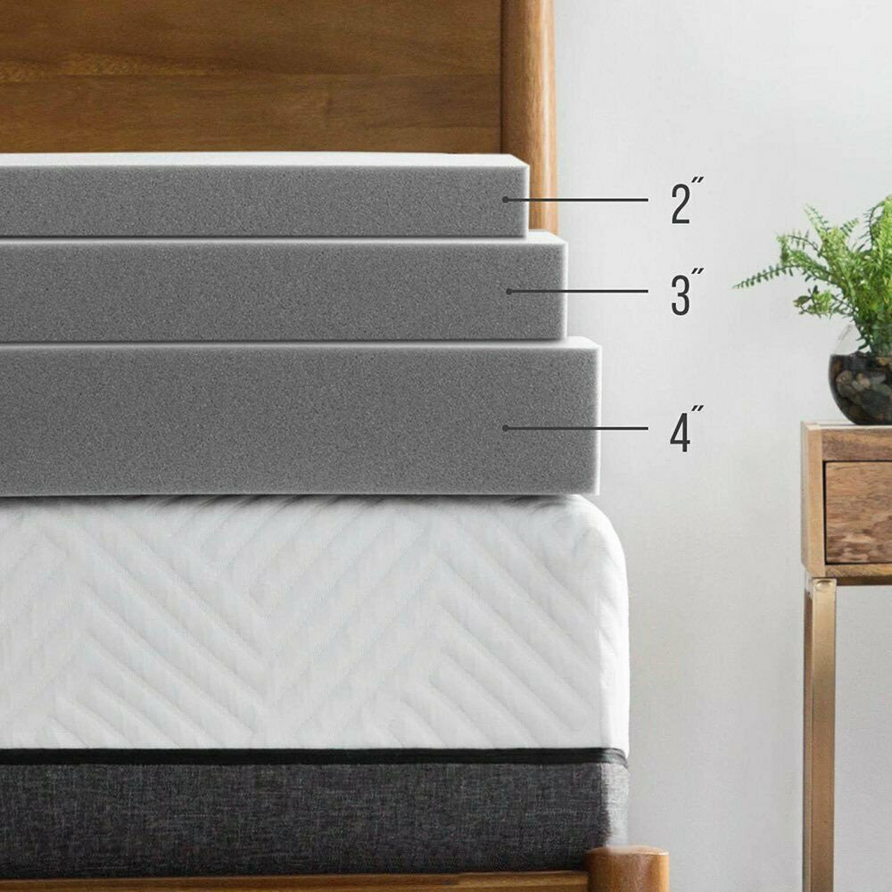 3/4 Inch Thick Breathable Bamboo Mattress Topper