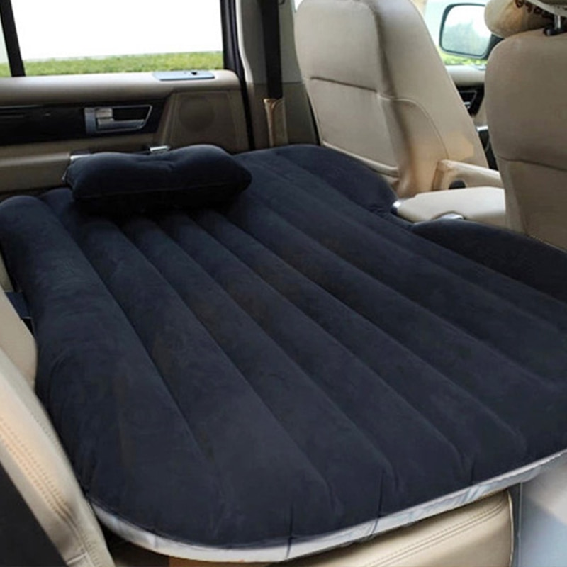 Car Air Inflatable Travel Mattress Bed With Pillow